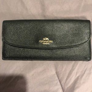 Authentic all black coach wallet.